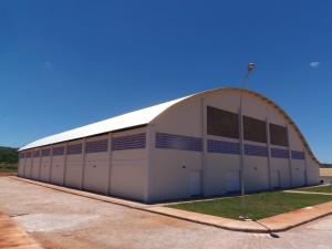 Ginásio poliesportivo - fachada